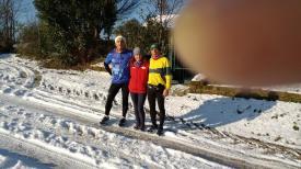 20150101 il primo dell'anno Vecchiazzano-Sadurano-18km-Con due amici della podistica san vittore Cesena- _n
