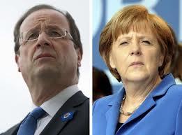 Francois Hollande Angela Merkel