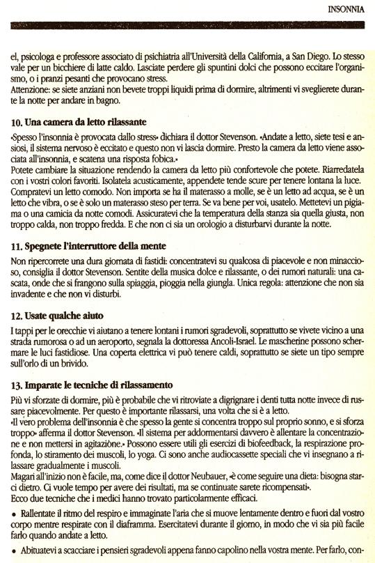 4 Insonnia