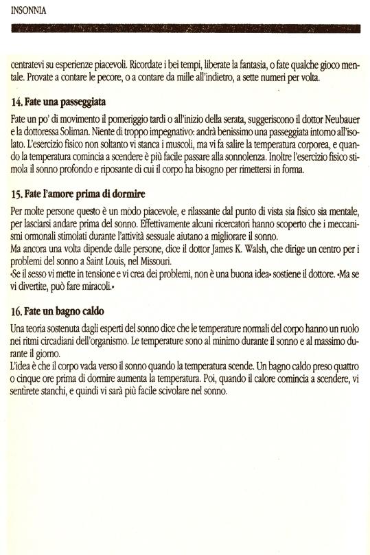 5 Insonnia