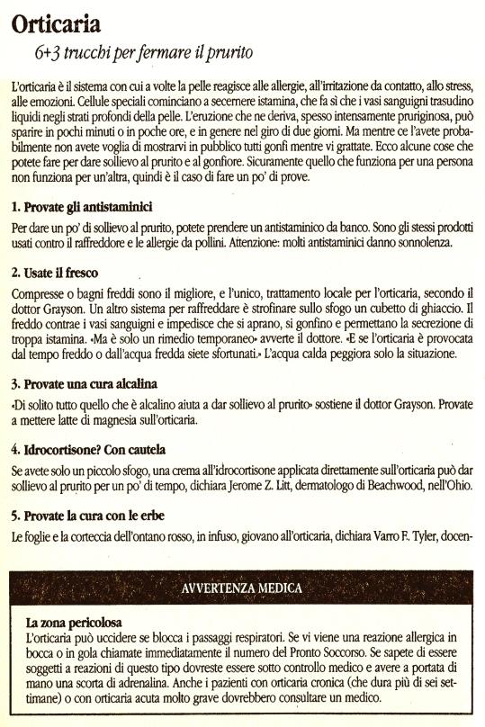 1 Orticaria
