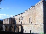 """58L'Aquila: il poderoso Castello Cinquecentesco, una delle principali fortezze italiane. Il castello è ubicato nella parte più elevata del capoluogo abruzzese ed è chiamato anche """"Forte Spagnolo"""" perchè fu voluto ed edificato, nel 1534, dai governatori spagnoli che all'epoca dominavano l'Italia meridionale."""