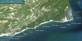 48 - - Cartina Spiagge Riviera del-Conero Sud - Foto di Sirolo, Provincia di Ancona