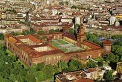 38- Milano- Castello Sforzesco--Attualmente il Castello ospita la Pinacoteca, il Museo d'Arte Antica, il Museo Egizio, il Museo degli Strumenti Musicali