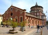 52 - Milano-Santa-Maria-delle-Grazie-dove-si-trova-il-famosissimo-dipinto-di-Leonardo-da-Vinci-l_ultima-cena- La chiesa ha origini antiche del Rinascimento lombardo ed è legata a due nome importanti Leonardo da Vinci e Bramante. Divenuta Patrimonio dell'Unesco,.