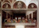 53 - Milano. Interno di Santa Maria delle Grazie Leonardo-da-Vinci-Cenacolo