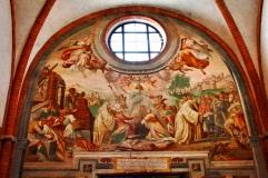 108 - Milano-Particolare all'interno della Abbazia di Chiaravalle