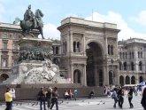 33 -Milano. Dettaglio della Galleria Vittorio Emanuele II vista da Piazza del Duomo