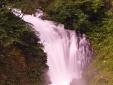 37- BG- Val Brembana-Il grande salto d'acqua con profonda marmitta fluviale del fumo di latte