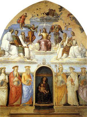 28 - Perugia. Interno.Raffaello,_affresco_della_cappella_san_severo_