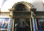 17 -. Cascia. Chiesa di San Francesco, coro ligneo trecentesco