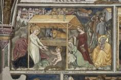 18 - Foligno, Palazzo Trinci, cappella, affresco di Ottaviano Nelli, 1424 -Natività