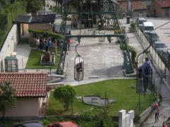 36 - Panorama su Gubbio ). Emozionante - funivia-partenza