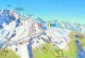 14 - Mappa piste sci Cervinia-Plateau Rosà