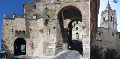 24 - A 4km da Terni-Collescipoli-(left and center) outer and inner gates at Porta Sabina bell tower of S. Maria Maggiore