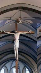 96 - - Aosta Cattedrale Navata Centrale Crocefisso