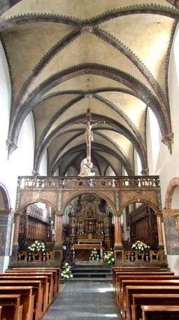 103--Aosta interno Collegiata_Sant_Orso_Navata_