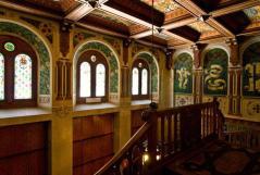18,1 -Interno del Castello di Savoia Gressoney Saint Jean Aosta Italy