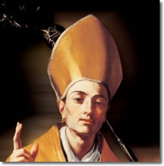 132 - Napoli -San Gennaro il santo Patrono e Protettore della città. Le leggende su San Gennaro La tradizione narra che, alla morte del martire, il suo sangue sia stato raccolto da una donna molto devota che lo sistemò in varie ampolline: una storia, tra leggenda e realtà, che incrementa il fascino e il mistero che da sempre avvolgono il santo e la sua vita. Si racconta inoltre che il martire fu decapitato a Pozzuoli su una pietra e che il 19 settembre di ogni anno, giorno della sua morte, questo masso diventi di un rosso molto accesso a causa del sangue del martire che si scioglie.