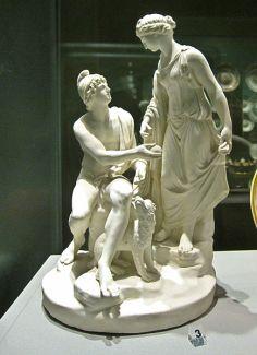 151 - Napoli -Museo di capodimonte - Venere e Paride (Filippo Tagliolini). Opera in porcellana di Capodimonte sita nell'appartamento reale al piano nobile.