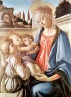 153 -Napoli -Museo di capodimonte - Madonna con Bambino e due angeli 1468-1469. di Sandro Botticelli.