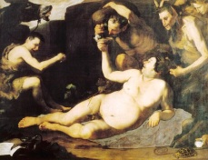 156- Napoli - Museo di Capodimonte- IL SILENO EBBRO (1626) di José de Ribera detto lo Spagnoletto (1591 - 1652) Pittore spagnoloTela cm 185 x 229