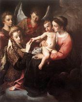 160 - Museo di Capodimonte, Napoli - Annibale Carracci, Matrimonio mistico di santa Caterina, 1585-1587.