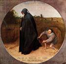 162 Napoli -Museo di Capodimonte - Il Misantropo è un dipinto a tempera su tela di Pieter Bruegel il Vecchio, datato 1568. È firmato BRVEGEL 1568.