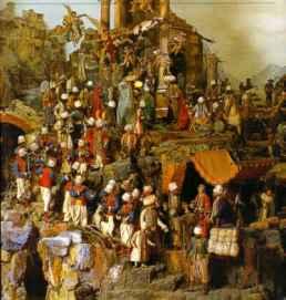 183 - particolare del presepe Cuciniello Napoli - Museo di San Martino
