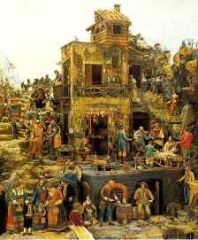 184 - Napoli- Particolare del presepe di Cuciniello.