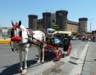 202 - Napoli-Maschio Angioino con carrozzella