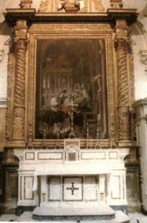 31 - L'altare di Sant'Anna all'interno della cattedrale di Matera fu eretto nel Seicento