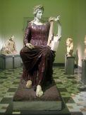 77 - Museo Archeologico di Napoli - Statua colossale di Apollo seduto statua della dea Roma,