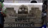 100 - Napoli sotterranea scritta con bassorilievo