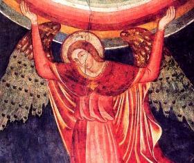 20 - Particolare- della cripta - affreschi di Giotto - San Francesco-