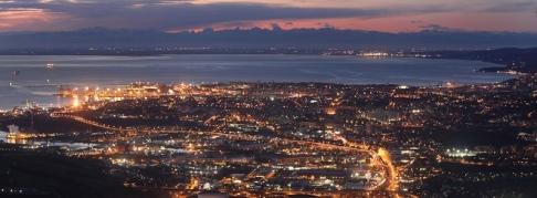 1- Trieste -panorama al tramonto.