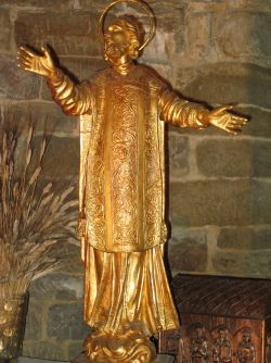 21 - San Leone.E' stato il fondatore della città di San Leo, di cui successivamente è diventato patrono. Dopo la morte, avvenuta nel 360, il corpo di Leone venne deposto in un sarcofago di pietra nella cripta della cattedrale, di cui oggi si conserva solo il coperchio recante un'iscrizione