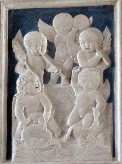 11 - Rimini. interno - -Tempio-Malatestiano Cappella dei giochi infantili- Agostino di Duccio, Giochi di putti