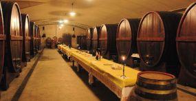 35- Ristorante Casa Zanni - cantine, dove nelle botti riposa il vino, con degustazioni dei nostri vini o aperitivi di benvenuto