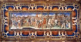 155 - Pesaro. Villa-Imperiale. interno sala dei giuramenti. Soffitto col Giuramento di Sermide, G. Genga.