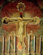 32 - - Crocifisso (c. 1345-50) tavola, cm 350 x 277. Chiesa di San Paolo, Montefiore Conca.