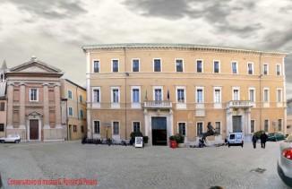 42- Pesaro. Conservatorio di musica G. Rossini. Il Conservatorio Rossini di Pesaro è tra i più antichi in Italia. Ha sede all'interno di Palazzo Olivieri