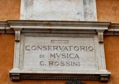 43 - Pesaro. Conservatorio di musica G. Rossini, particolare