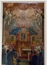 43 - Affresco del soffitto incorniciato da stucchi - Santuario della Madonna di Bonora - Montefiore Conca (RN)