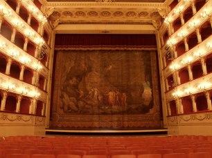 108 - Pesaro-Teatro. Gioacchino Rossini. particolare. Il Sipario Storico.
