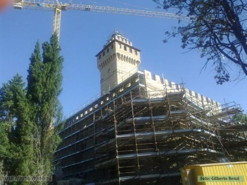 Il Castello in fase di restauro