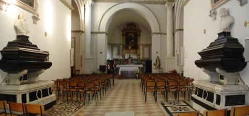94 - Mausoleo dei DuchiI sarcofaghi di Federico a Sn e di Guidobaldo a Dx