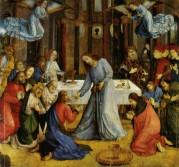 18- Urbino - Galleria Nazionale delle Marche. Studiolo del Duca si trova la Comunione-degli-Apostoli-1473-1474 di Giusto-di-Gand.