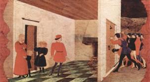19 - Urbino - Galleria Nazionale delle Marche. nello Studiolo del Duca, di Paolo Uccello si trova il Miracolo dell'Ostia profanata-
