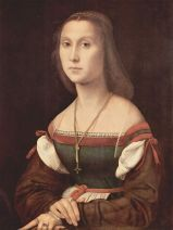 20- Urbino - Galleria Nazionale delle Marche. Studiolo del Duca, di Raffaello: Il Ritratto di gentildonna